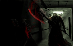 Обои survivor horror, опасность, кровь, арт, executioner, палач, resident evil Afterlife