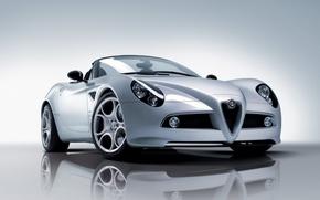Обои Белый, Alfa Romeo