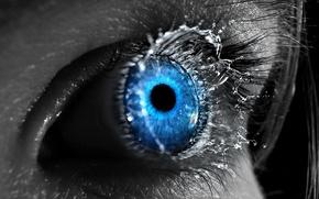Обои синий, всплеск, Глаз, 151