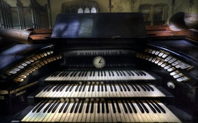 Картинка музыка, фон, орган