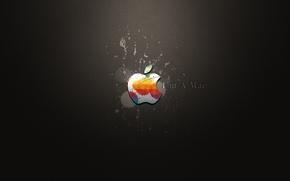 Обои кляксы, apple, i'm a mac
