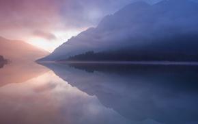 Картинка природа, озеро, отражение, гора, mac