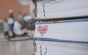 Картинка макро, любовь, сердце, книги, сердечко, i love you, страницы