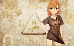 Обои знак, misaka mikoto, to aru kagaku no railgun