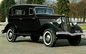 Картинка ретро, черный, автомобиль, седан, советский, эмка, воронок, GAZ M 1, ГАЗ М 1, молотовец