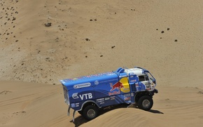 Картинка KAMAZ, Песок, Дюна, Пустыня, Мастер, Синий, Rally, КАМАЗ, Dakar