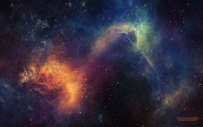 Картинка звезды, свечение, space, universe, nebula