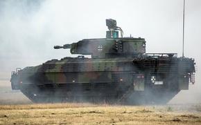 Картинка бронированная, пехоты, германская, боевая, дым, машина, Schützenpanzer, Пума