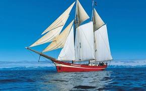 Картинка корабль, парусник, северное море, Noorderliht