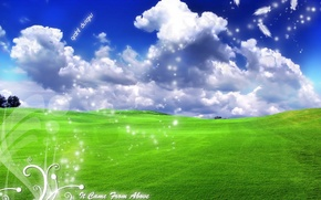 Картинка надписи, безмятежность, легкость, облака, ландшафт, пейзаж