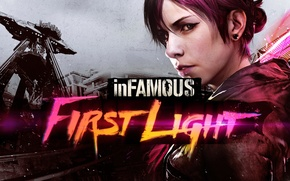 Картинка dlc, PlayStation 4, InFamous, Abigail Walker, inFamous: First Light