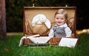 Картинка дети, чемодан, мальчики