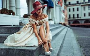 Картинка девушка, город, шляпка, Россия, street style, Unclosed sexuality