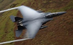 Картинка истребитель, Eagle, полёт, пилоты, F-15E, McDonnell Douglas