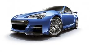 Картинка купе, концепт-арт, Subaru BRZ STI