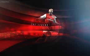 Картинка атака, победа, футболист, Арсенал, центр, гол, football, Arsenal, Thierry Henry, Канониры, Анри, goals, Форвард