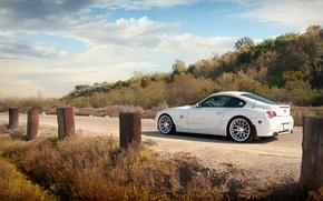 Картинка дорога, бмв, BMW, белая, white, Z4M