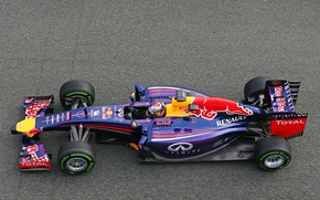 Картинка Гонщик, Formula 1, Vettel, Чемпион, Sebastian, RB10, Red Bull Racing