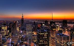 Картинка город, высота, new york, нью йорк, большой город, big city