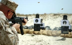 Обои оружие, солдат, мишени, mp5