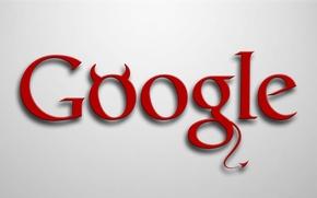 Картинка logo, devil, minimalism, google