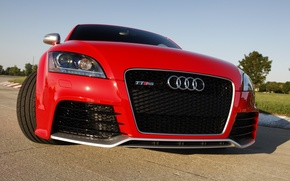 Картинка Audi, Ауди, красная, TT RS