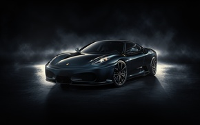 Картинка F430, Ferrari, front, by DuronDesign, Midnight Black