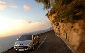 Обои 308RC, вода, Peugeot, авто, дорога, небо