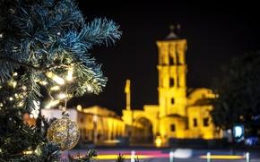 Картинка christmas, cyprus, larnaca
