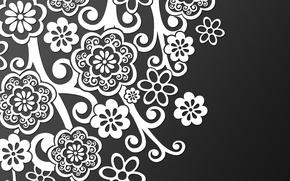 Картинка белый, Черный, кружево