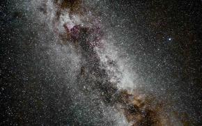 Картинка небо, Млечный путь, ночь, звезды, космос