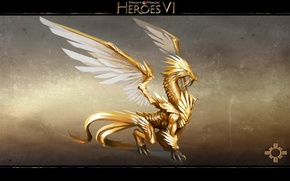 Картинка Дракон, Свет, Герои Меча и Магии 6, Might & Magic Heroes VI, Эльрат, Elrath
