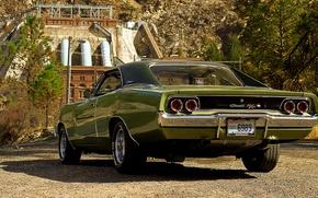 Обои ретро, Dodge, классика, Charger, 1968