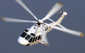 Картинка небо, винты, полет, Eurocopter, вертолет