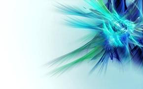 Картинка свет, голубой, цвет, белый фон, бирюзовый