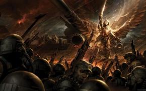 Картинка Warhammer 40000, гвардия, Angel of Fire, Солар Махариус, Лорд, лазганы, смертельный клинок