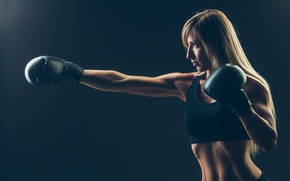 Обои punch, training, Boxing, sportswear, transpiration