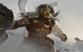 Картинка Elder titan, tauren chieftain, бык, рога, dota 2, defense of the ancients, дота