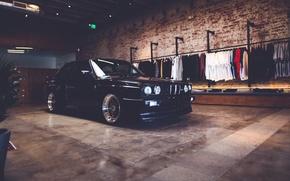 Картинка BMW, light, rims, reflection, E30, clothes, headlights
