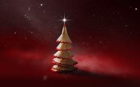 Картинка креатив, елка, Новый Год, арт, Рождество, карандаш, Christmas, New Year, Xmas, Merry, 2016