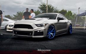 Картинка mustang, мустанг, wheels, ford, форд, muscle, tuning, power, front, america, face, GTcustom