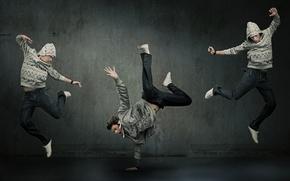 Обои танец, парень, экспрессия