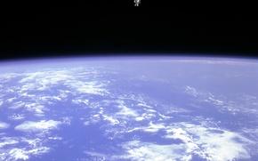 Обои земля, Космонавт, атмосфера