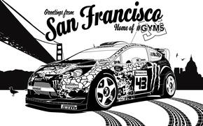 Картинка ford, rally, ралли, wrc, San Francisco, fiesta, Ken Block, Кен Блок, gymkhana5