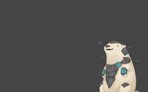 Картинка White, League of legends, Bear, Armored bear, Volibear