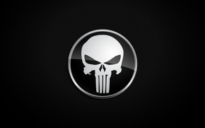 Обои Punisher, фон, череп