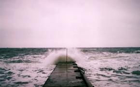 Картинка waves, storm, sea, troubled sea