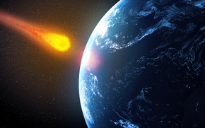 Картинка planet, destruction, meteorite future impact