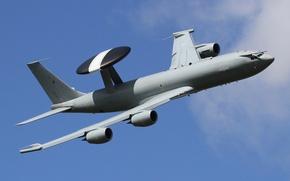 Обои полет, самолёт, дальнего, обнаружения, радиолокационного, Boeing E-3D, «Сентри», Сентри