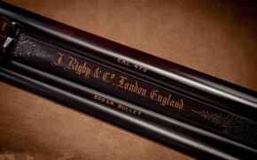 Картинка металл, буквы, стволы, шрифт, Rigby, John, double, 470, rifle